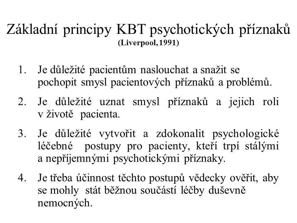 """ZKOUMÁNÍ OKOLNOSTÍ VZNIKU PSYCHOTICKÉHO ONEMOCNĚNÍ Zaměříme se na období před první atakou psychózy (6-12 měsíců) Ptáme se přímo: """"Kdy jste měl poprvé pocit, že..?. , """"Kdy jste poprvé začal slyšet hlasy? , """"Dokdy jste se cítil psychicky v pořádku? Zkoumáme životní situaci pacienta v té době, jeho vztahy, plány, stresující vlivy z okolí Informace získáváme z anamnézy - vztahy v původní rodině, dětství, dospívání, a další … Ptáme se blízkých osob, zkoumáme zdravotnickou dokumentaci"""