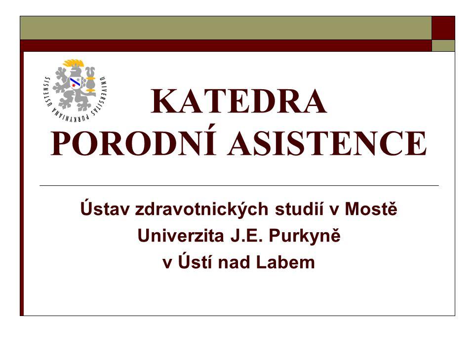 Katedra porodní asistence v Mostě12 Cíle studijního programu PA Program umožňuje získat vzdělání a profesní kvalifikaci:  k výkonu zdravotnického povolání,  k poskytování přímé péče o individuální potřeby jednotlivců, rodin a ( s respektem základních principů evropské strategie WHO pro vzdělávání sester a porodních asistentek)  k plnění základních funkcí ve společnosti: autonomní, kooperativní, rozvoj výzkumu a podpora vývoje v oblasti ošetřovatelství, plánování, koordinace a řízení ošetřovatelské péče a služeb  k výkonu povolání v různých oblastech systému péče o zdraví populace (primární, sekundární, terciární).