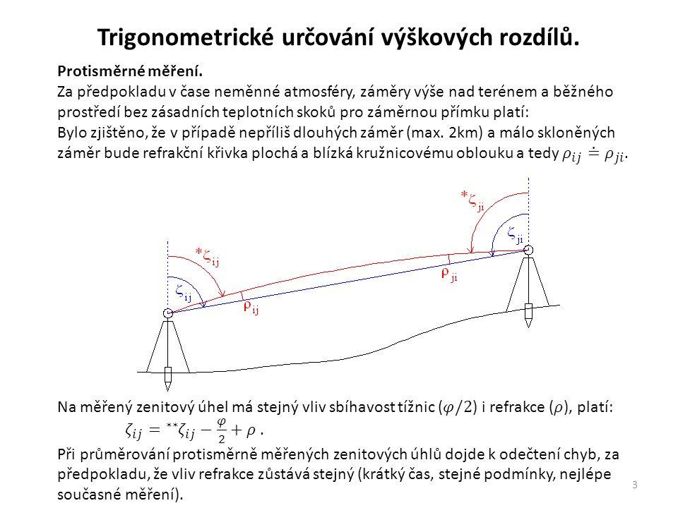 3 Trigonometrické určování výškových rozdílů.