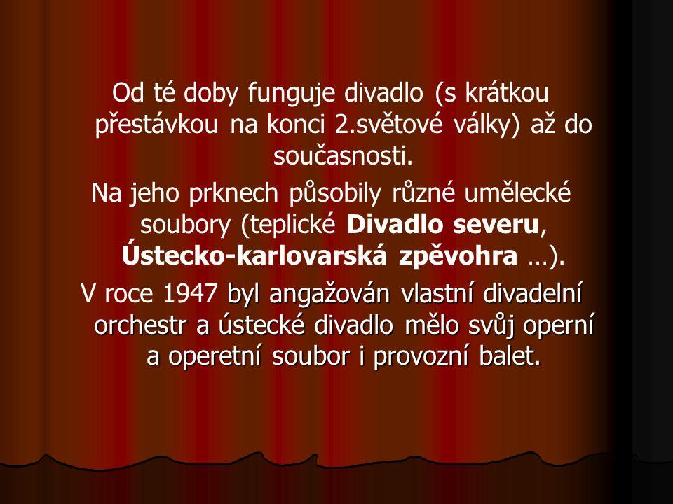 Od té doby funguje divadlo (s krátkou přestávkou na konci 2.světové války) až do současnosti.