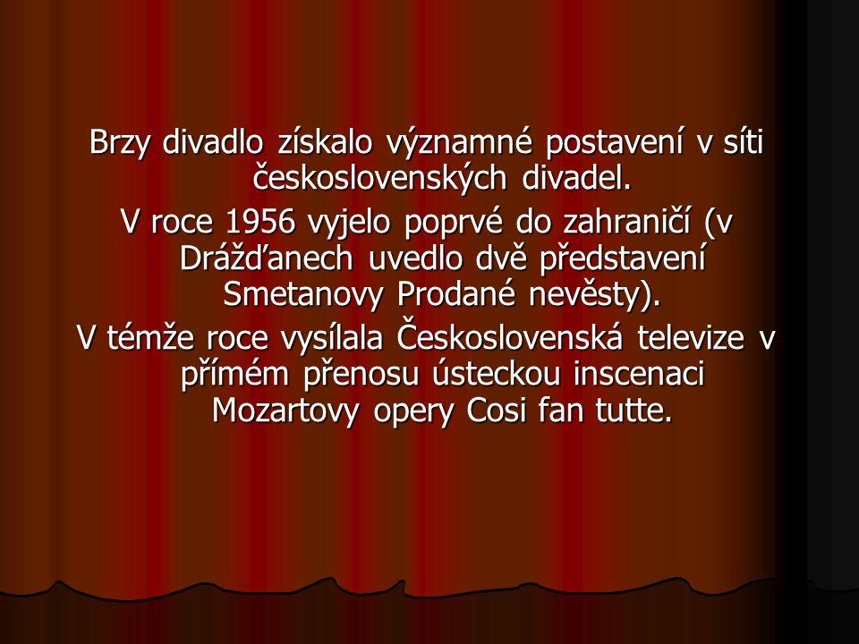 Brzy divadlo získalo významné postavení v síti československých divadel.