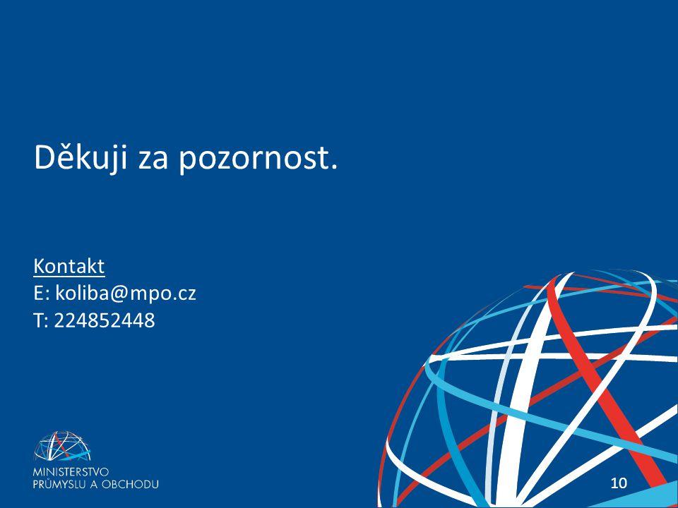 PŘETRVÁVÁ KRIZE VE STAVEBNICTVÍ? 10 Kontakt E: koliba@mpo.cz T: 224852448 Děkuji za pozornost.