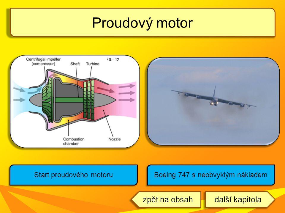 Proudový motor Start proudového motoru Boeing 747 s neobvyklým nákladem Obr.12 další kapitolazpět na obsah