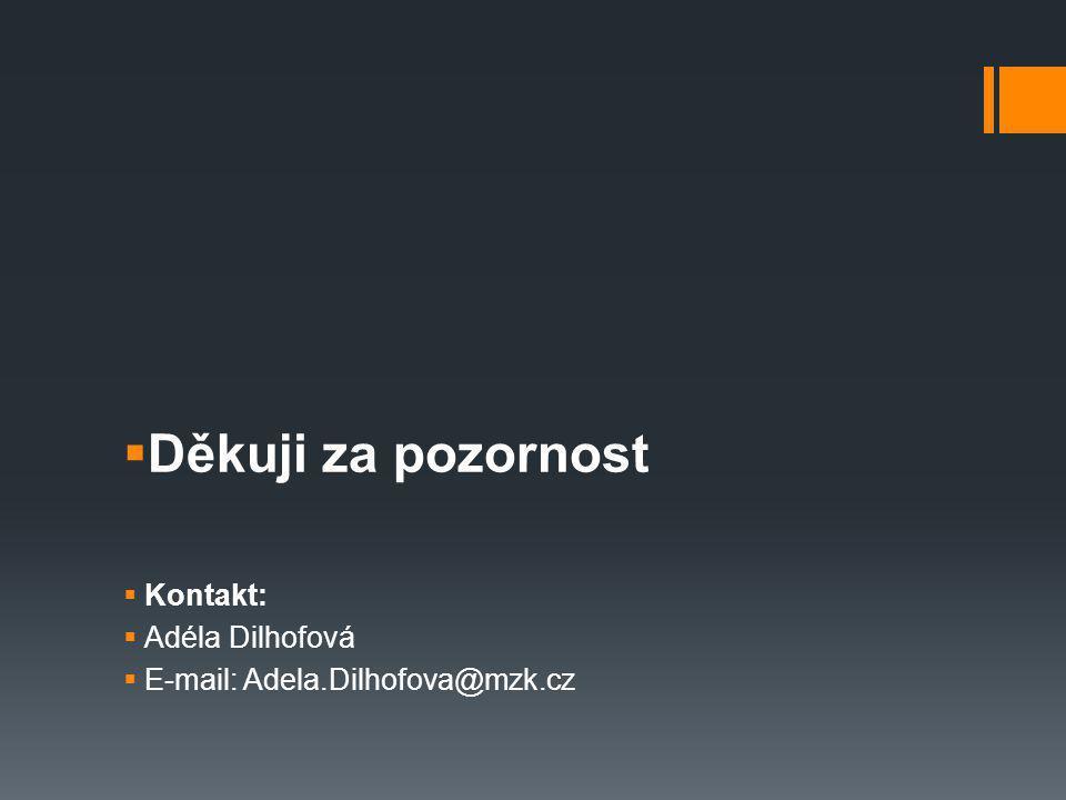  Děkuji za pozornost  Kontakt:  Adéla Dilhofová  E-mail: Adela.Dilhofova@mzk.cz