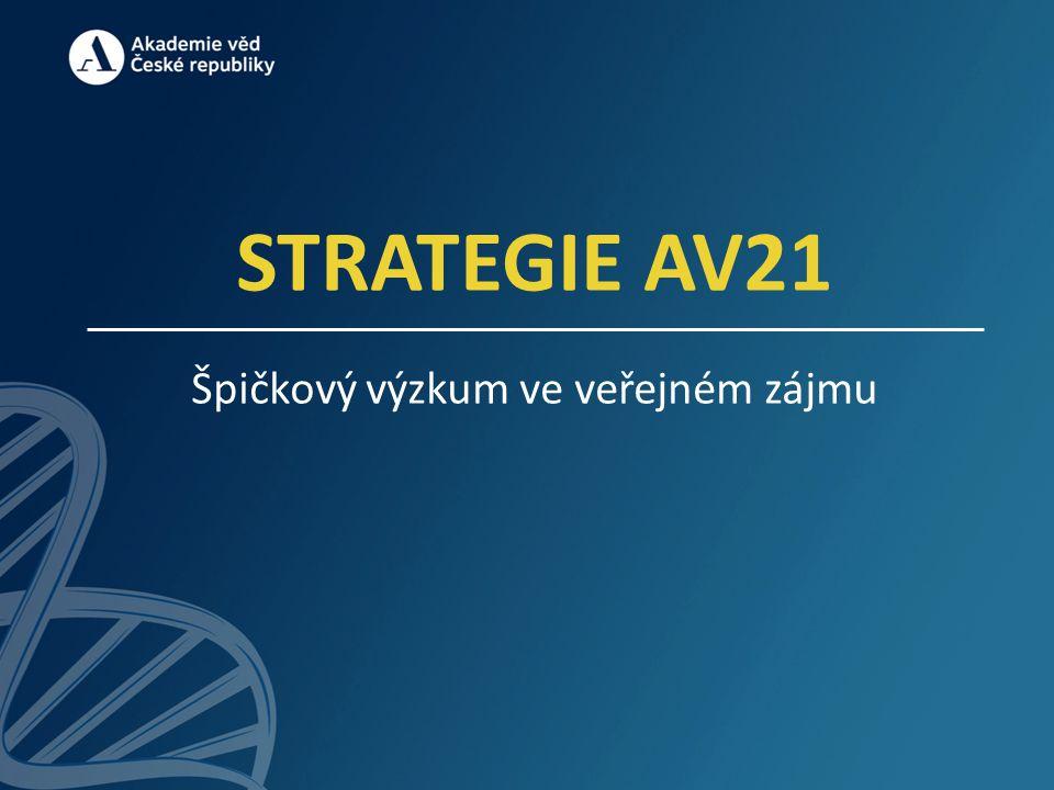 STRATEGIE AV21 Špičkový výzkum ve veřejném zájmu
