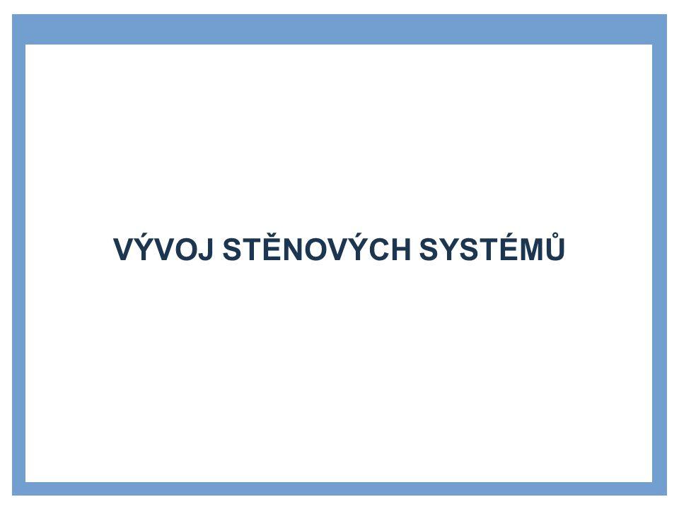 STĚNA - POPIS Základní nosný prvek stěnových systémů.