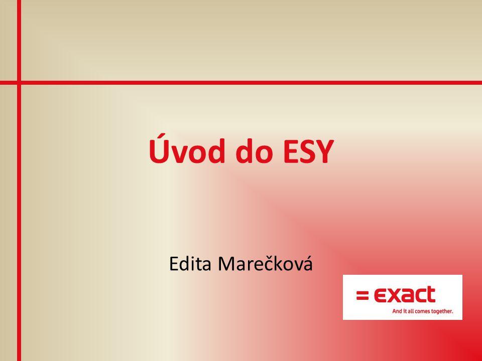"""Představení Exact Synergy Enterprise = ESY propojení jednotlivých oblastí podnikových IS """"balík chytrých podnikových řešení komplexní řešení pro podporu procesů společnosti xmare152"""