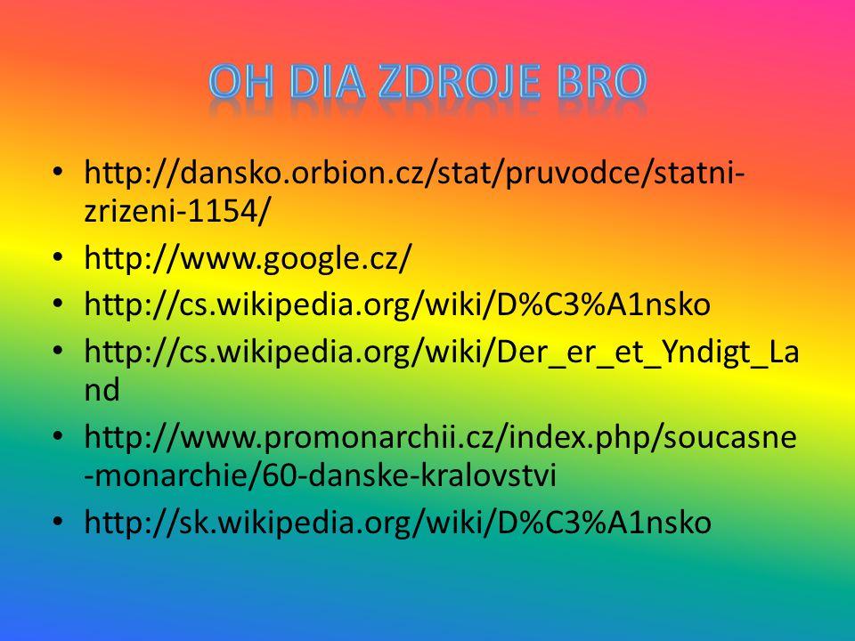 http://dansko.orbion.cz/stat/pruvodce/statni- zrizeni-1154/ http://www.google.cz/ http://cs.wikipedia.org/wiki/D%C3%A1nsko http://cs.wikipedia.org/wik