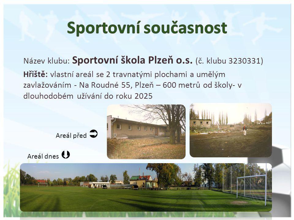 Název klubu: Sportovní škola Plzeň o.s. (č. klubu 3230331) Hřiště: vlastní areál se 2 travnatými plochami a umělým zavlažováním - Na Roudné 55, Plzeň