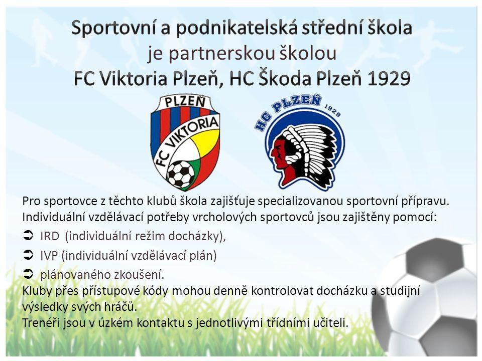 Pro sportovce z těchto klubů škola zajišťuje specializovanou sportovní přípravu. Individuální vzdělávací potřeby vrcholových sportovců jsou zajištěny