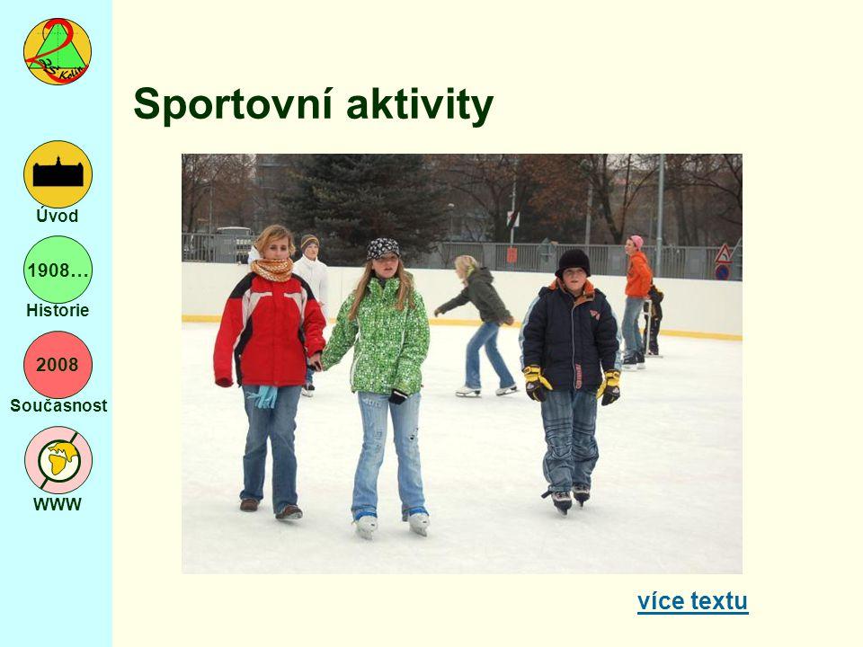 2008 Současnost WWW Úvod 1908… Historie Sportovní aktivity více textu