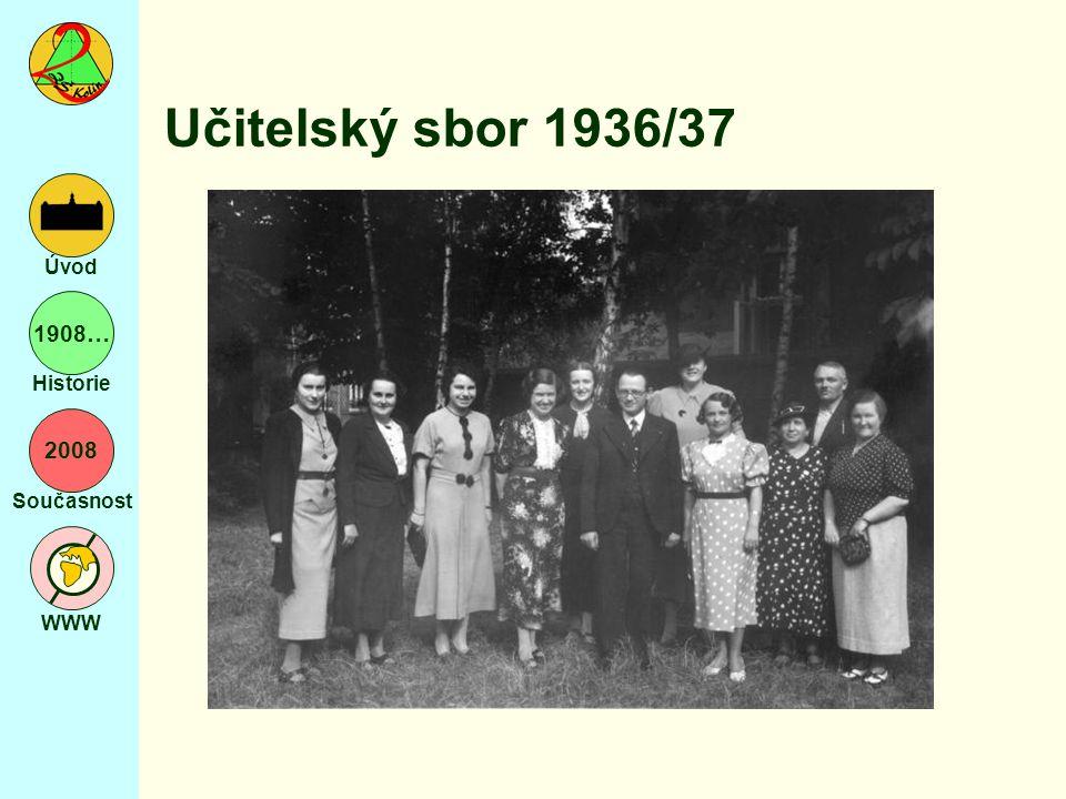 2008 Současnost WWW Úvod 1908… Historie Učitelský sbor 1936/37