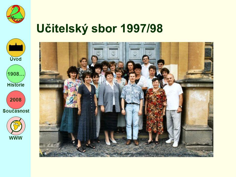 2008 Současnost WWW Úvod 1908… Historie Učitelský sbor 1997/98