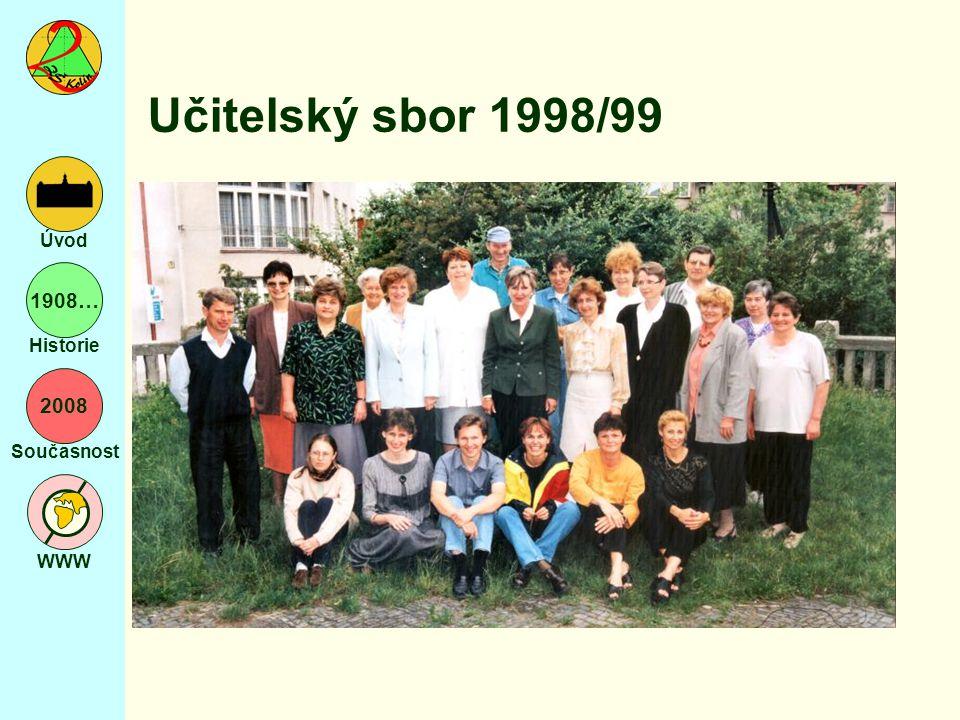 2008 Současnost WWW Úvod 1908… Historie Učitelský sbor 1998/99