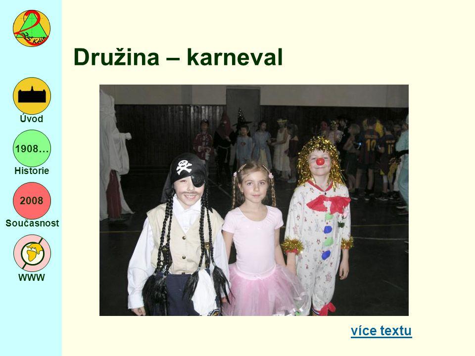 2008 Současnost WWW Úvod 1908… Historie Družina – karneval více textu