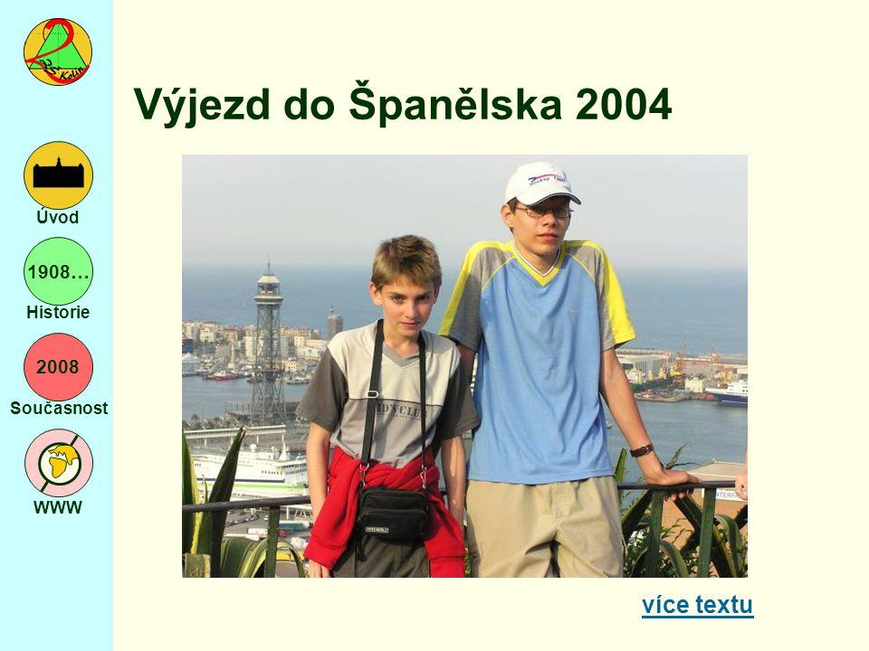 2008 Současnost WWW Úvod 1908… Historie Výjezd do Španělska 2004 více textu