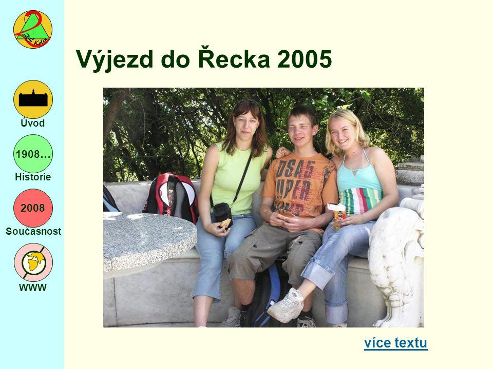 2008 Současnost WWW Úvod 1908… Historie Výjezd do Řecka 2005 více textu