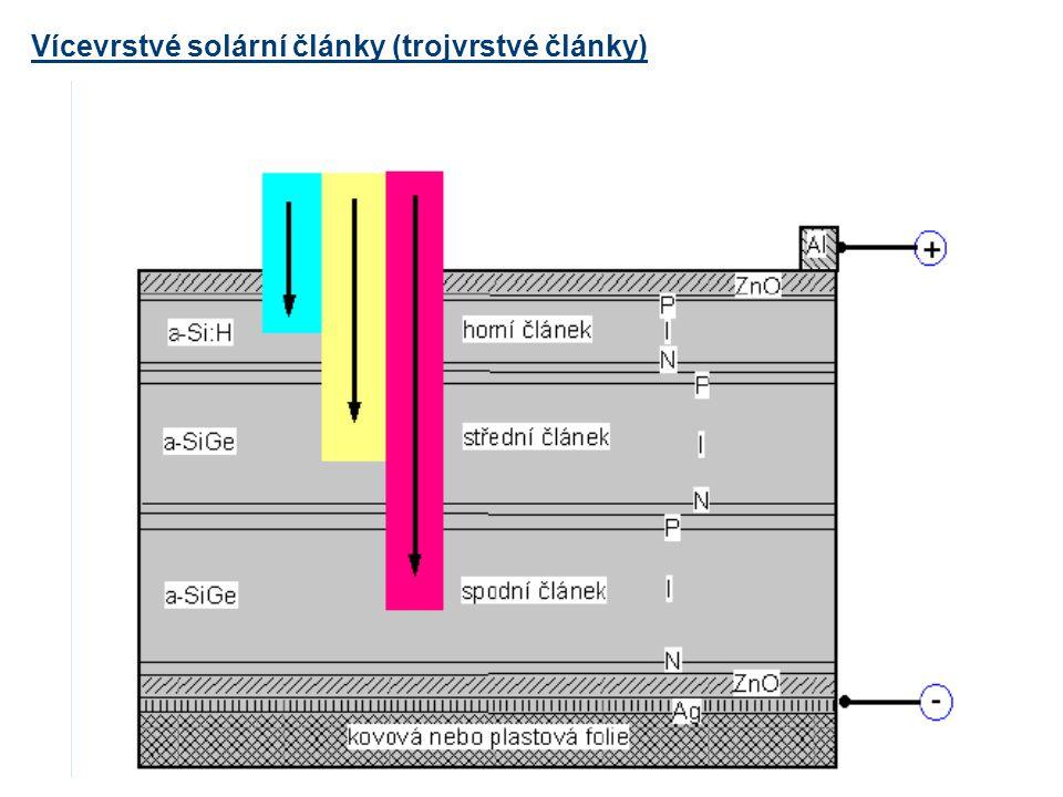 Vícevrstvé solární články (trojvrstvé články)