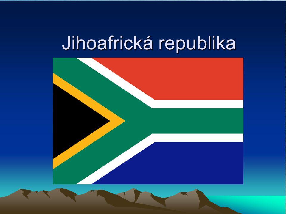 Základní informace Hlavní město: Kapské město Rozloha: 1 219 912 km² Nejvyšší bod: Njesuthi ( 3408 m.n.m.) Časové pásmo: +2 Počet obyvatel: 43 647 658 Jazyk: Angličtina Státní řízení: republika