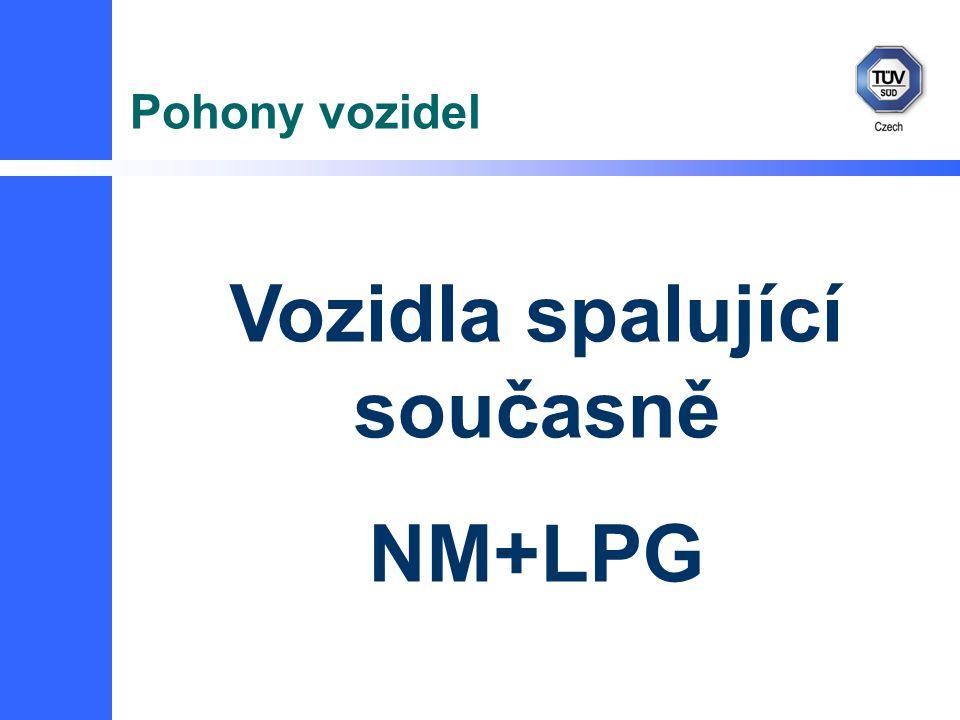 Pohony vozidel Vozidla spalující současně NM+LPG