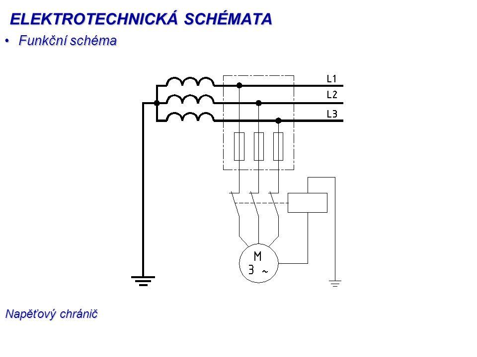 Funkční schémaFunkční schéma Napěťový chránič ELEKTROTECHNICKÁ SCHÉMATA