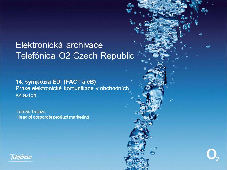 Elektronická archivace Telefónica O2 Czech Republic 14.