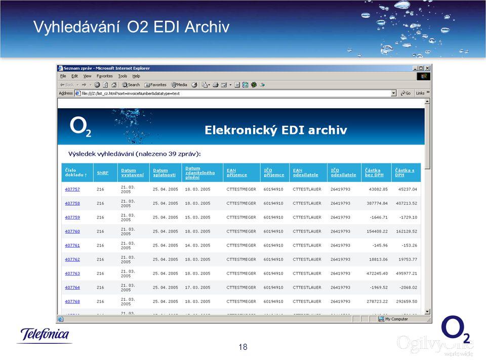 21 Vyhledávání O2 EDI Archiv 18