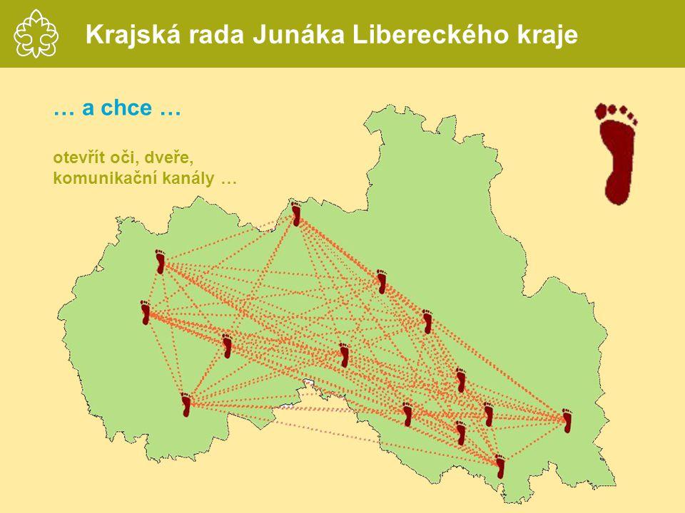 … a chce … otevřít oči, dveře, komunikační kanály … Krajská rada Junáka Libereckého kraje