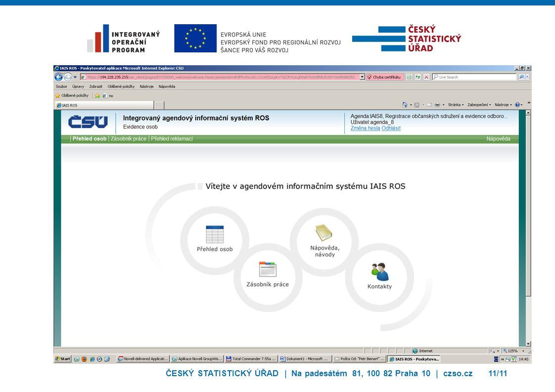 ČESKÝ STATISTICKÝ ÚŘAD | Na padesátém 81, 100 82 Praha 10 | czso.cz11/11