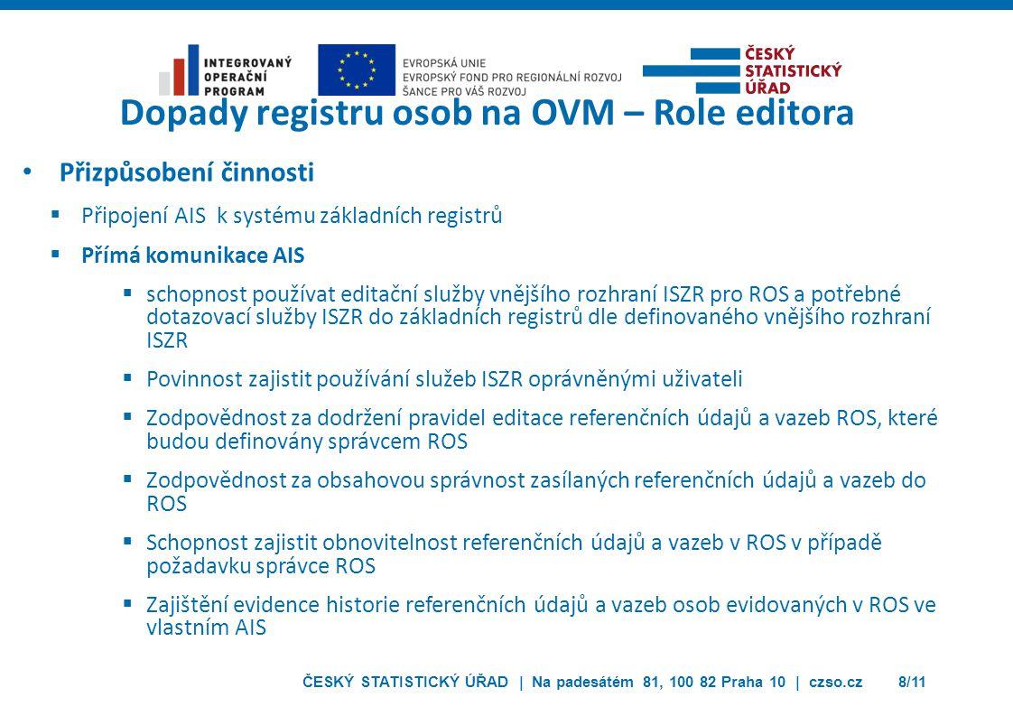 ČESKÝ STATISTICKÝ ÚŘAD | Na padesátém 81, 100 82 Praha 10 | czso.cz29/11 Děkuji za pozornost