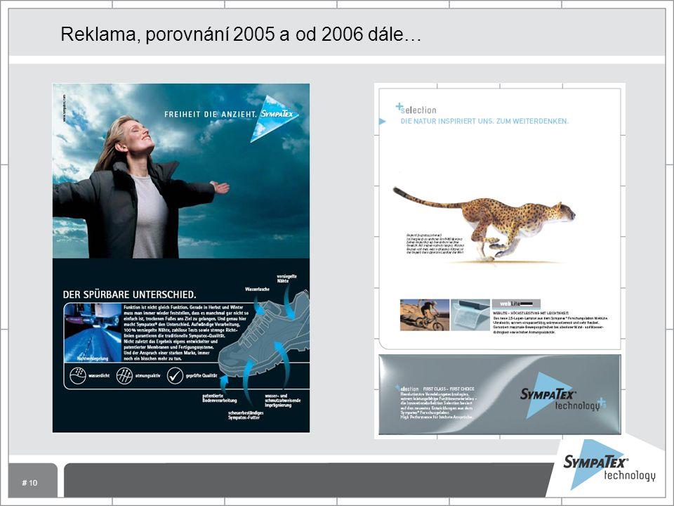 # 10 Reklama, porovnání 2005 a od 2006 dále…