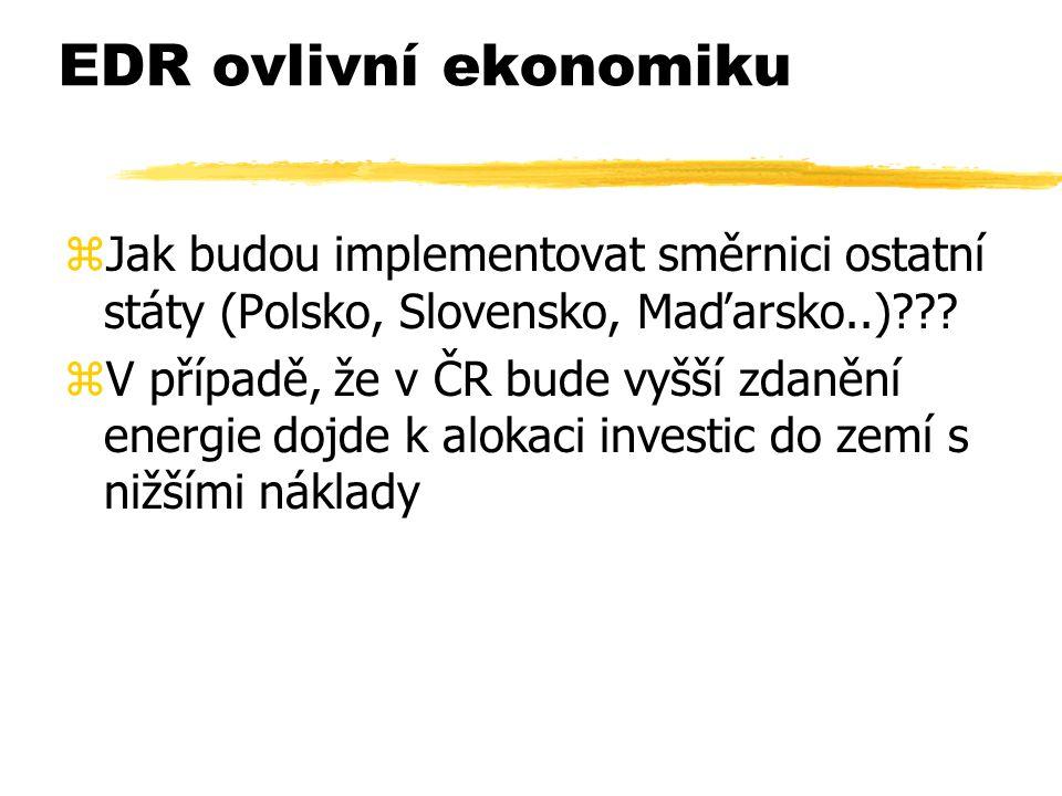 EDR ovlivní ekonomiku zJak budou implementovat směrnici ostatní státy (Polsko, Slovensko, Maďarsko..) .