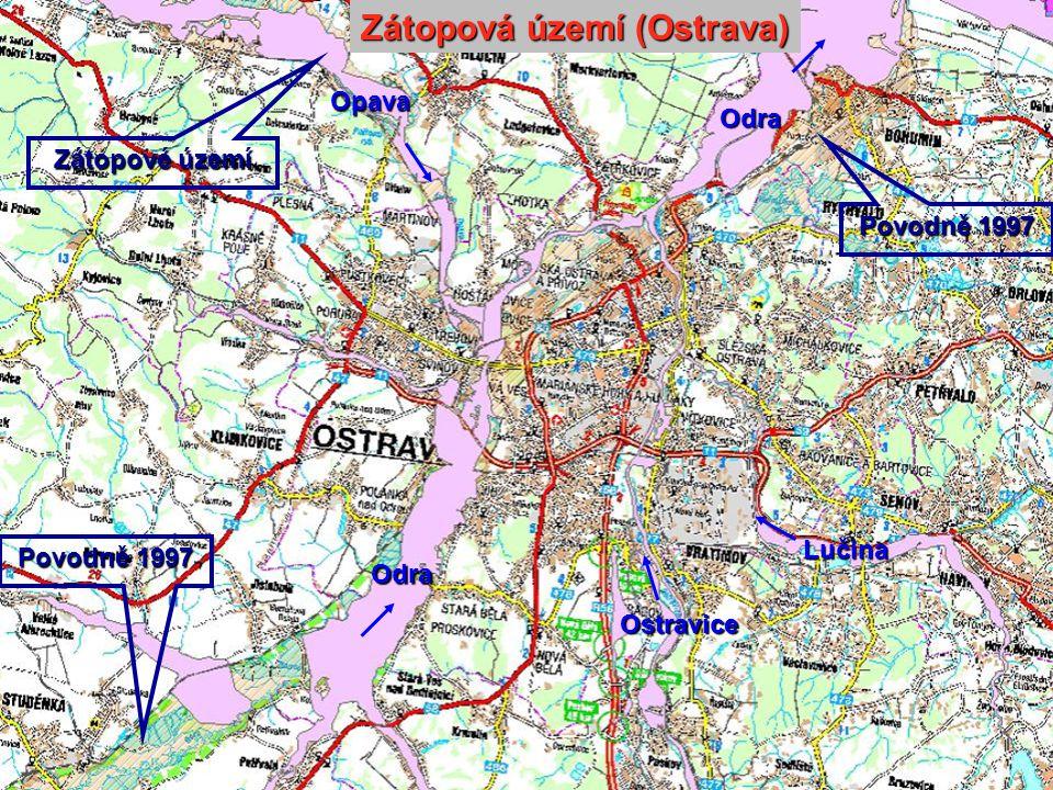 Odra Odra Ostravice Lučina Opava Zátopová území (Ostrava) Zátopové území Povodně 1997