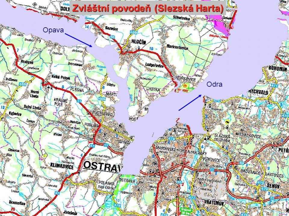 Zvláštní povodeň (Slezská Harta) Opava Odra