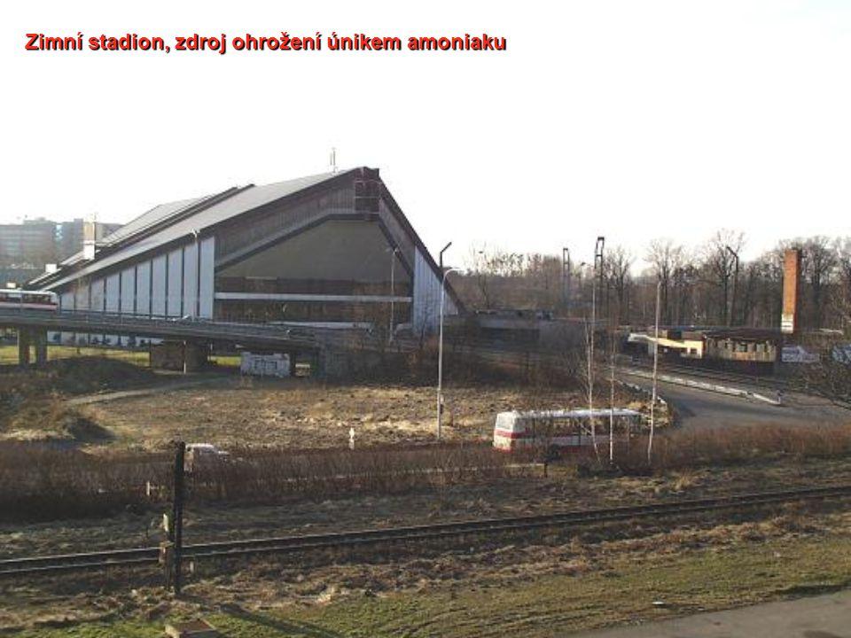Zimní stadion, zdroj ohrožení únikem amoniaku