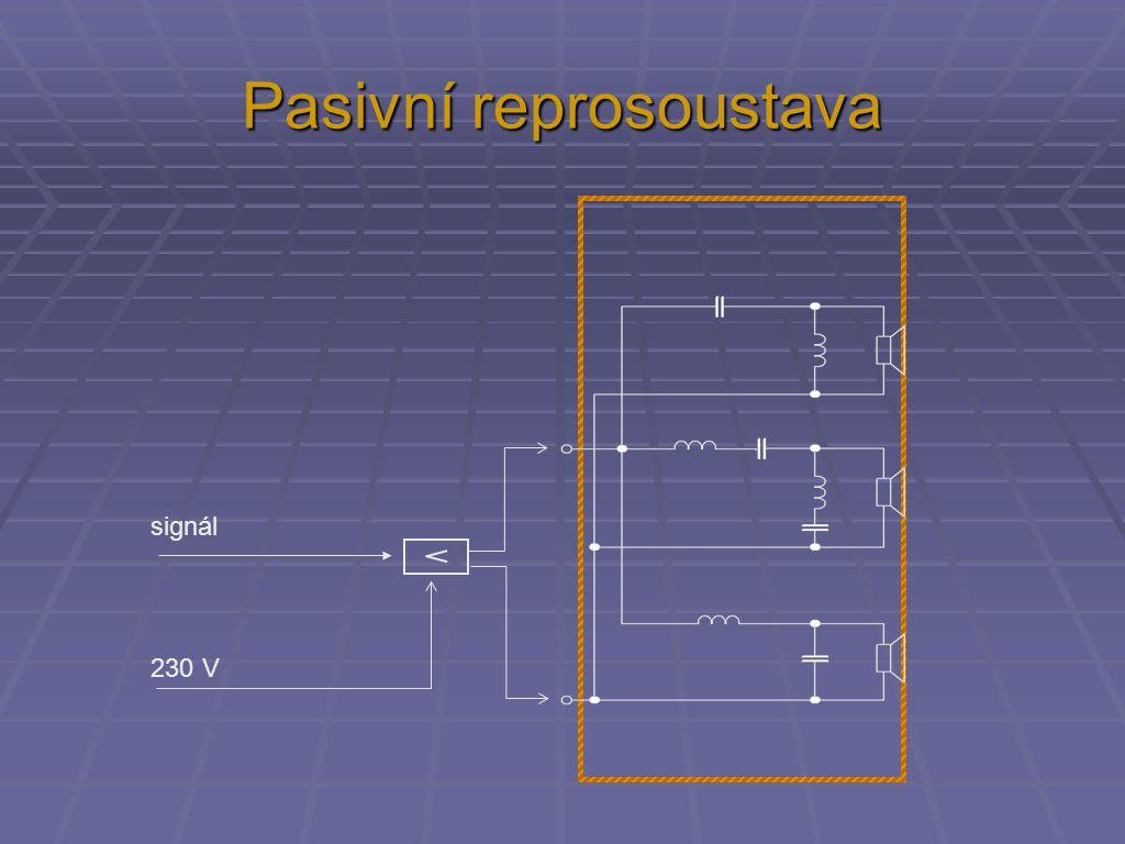 Pasivní reprosoustava signál 230 V