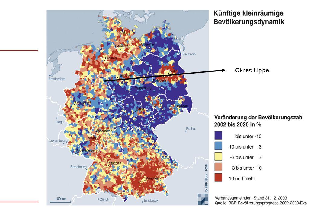 Statistikstelle des Kreises Lippe Udo Hötger Vývoj obyvatelstva ve věku 10-18 let v letech 2010-2030 v městech a obcích okresu Lippe (2010=100)