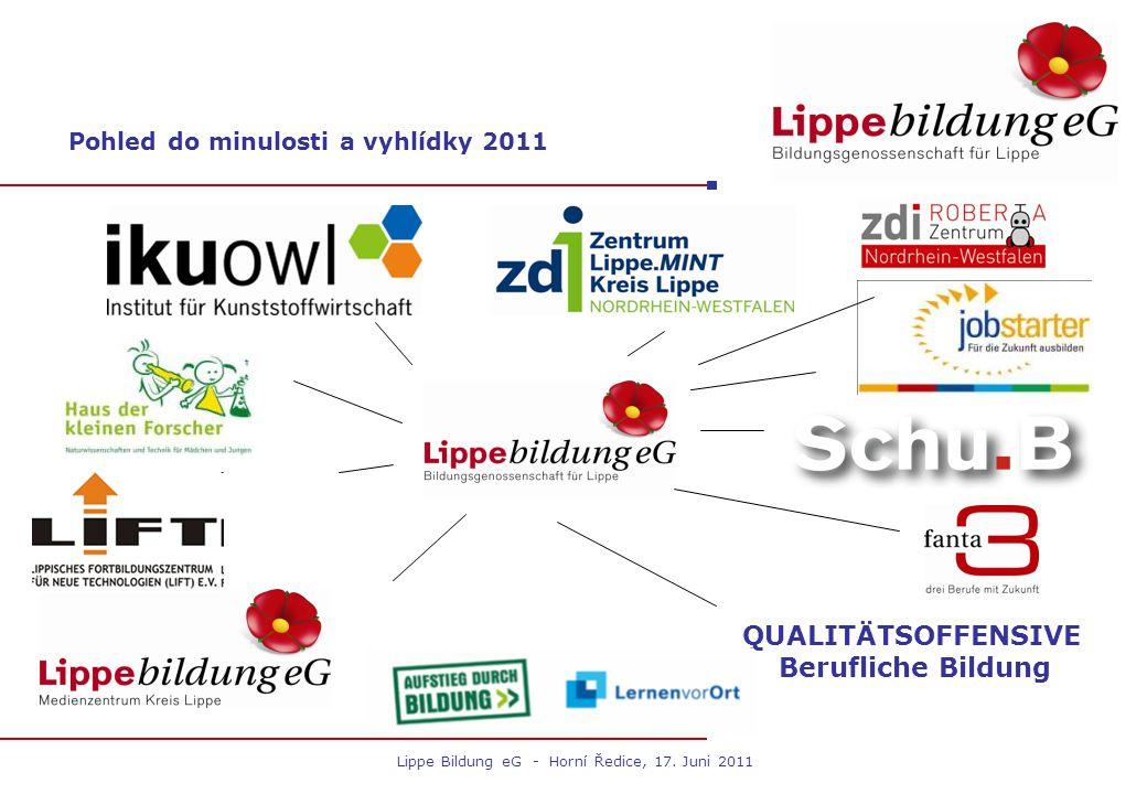 Pohled do minulosti a vyhlídky 2011 QUALITÄTSOFFENSIVE Berufliche Bildung Lippe Bildung eG - Horní Ředice, 17. Juni 2011