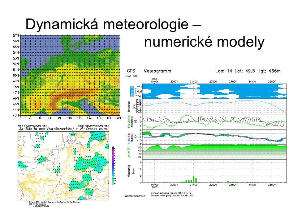 Dynamická meteorologie – numerické modely