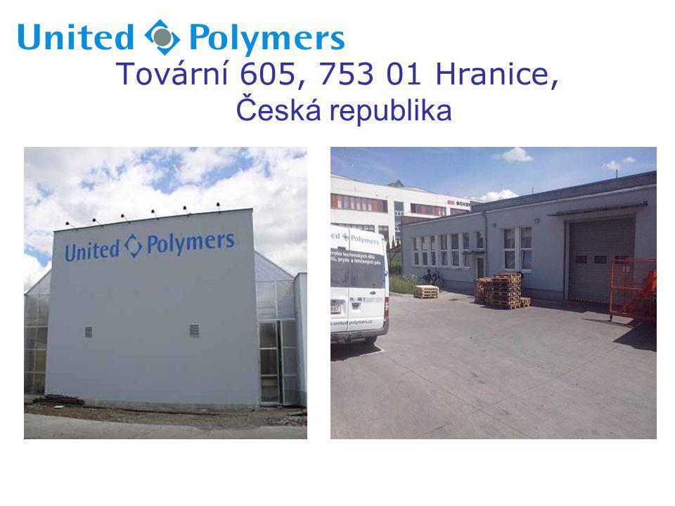 Historie:  1999 – zahájení výroby v ČR jako firma Precision Cut Rubber, s.r.o.