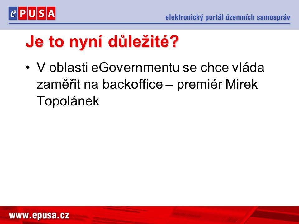 Je to nyní důležité? V oblasti eGovernmentu se chce vláda zaměřit na backoffice – premiér Mirek Topolánek