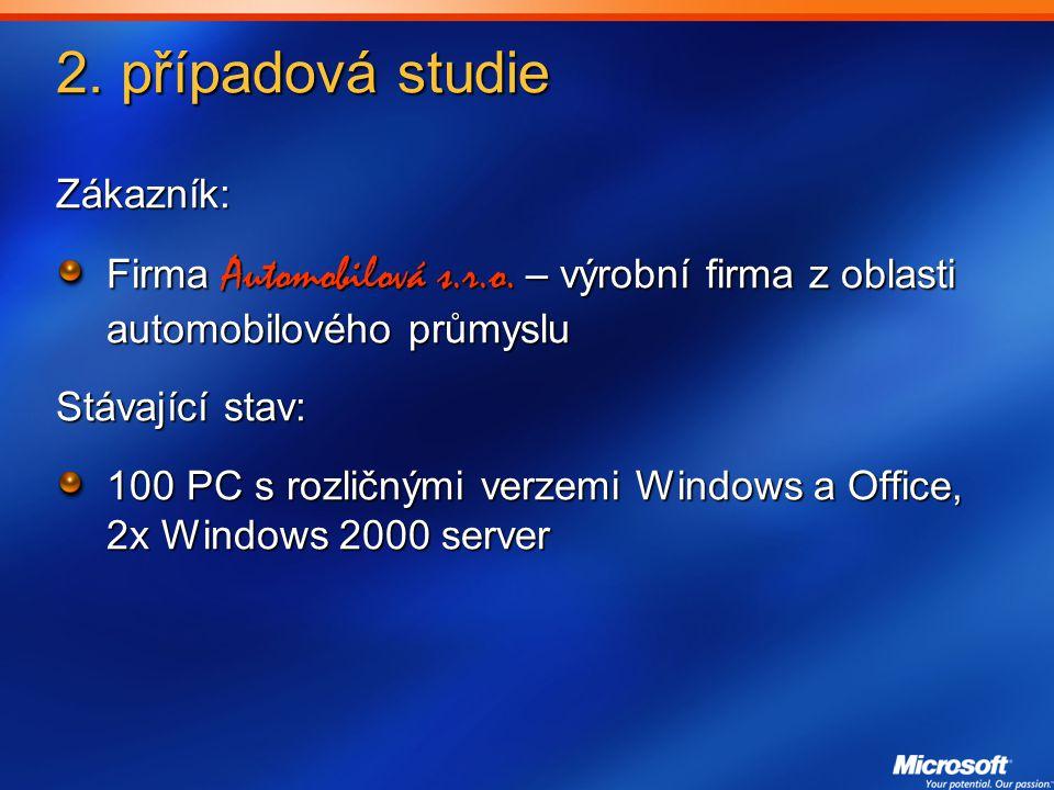 2.případová studie Zákazník: Firma Automobilová s.r.o.