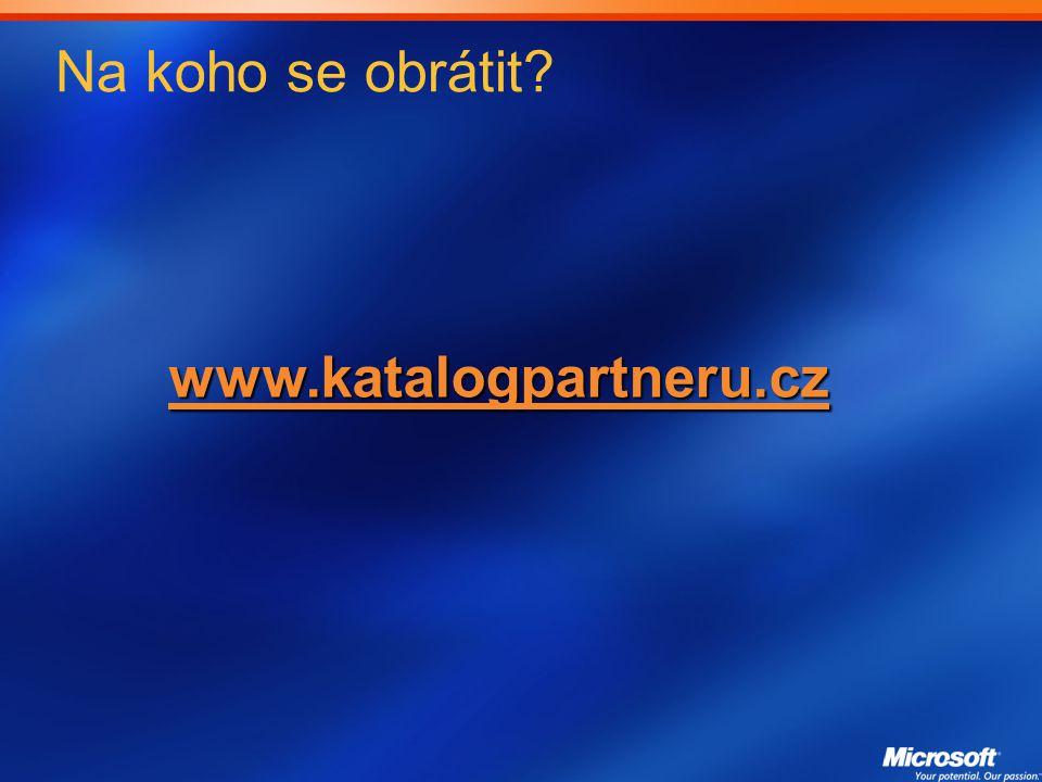 Na koho se obrátit? www.katalogpartneru.cz