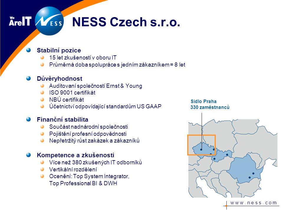 w w w. n e s s. c o m NESS Czech s.r.o.