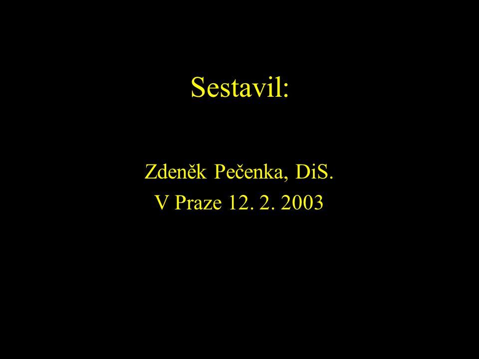 Sestavil: Zdeněk Pečenka, DiS. V Praze 12. 2. 2003