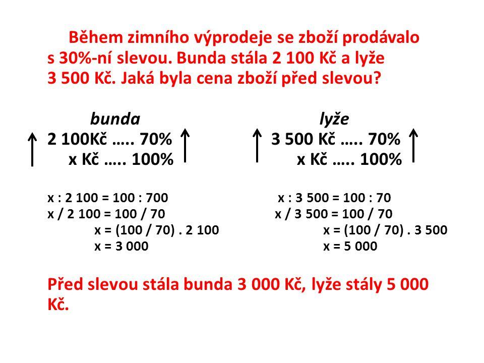 Mobilní operátor snížil cenu své služby z 990 Kč na 749 Kč. K jak velkému snížení (v %) došlo?