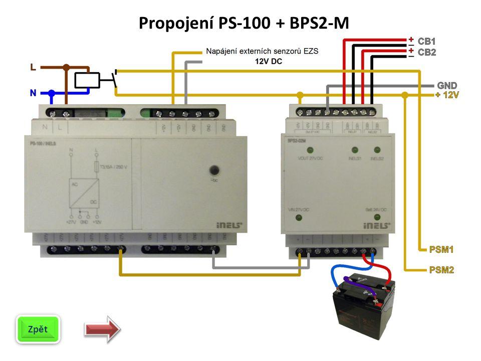 Propojení PS-100 + BPS2-M