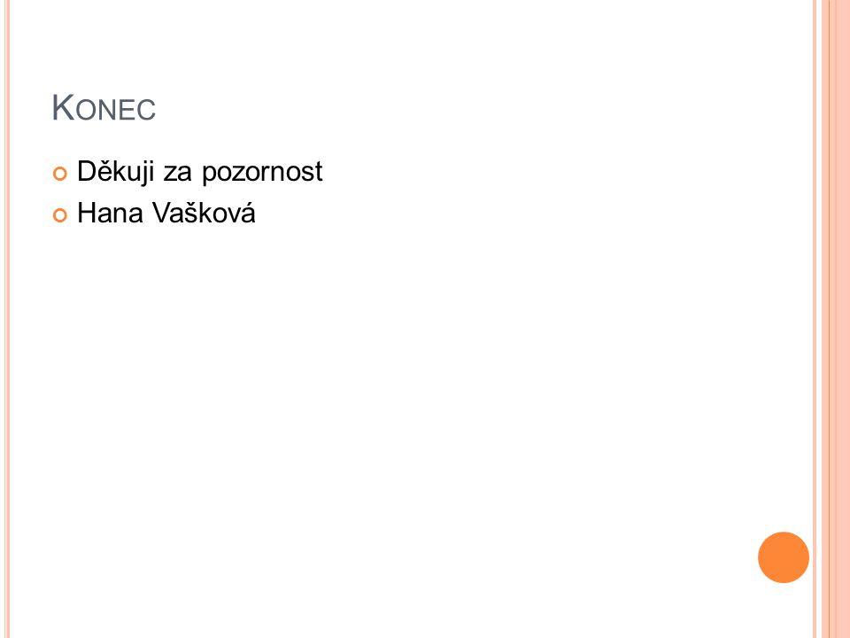 K ONEC Děkuji za pozornost Hana Vašková