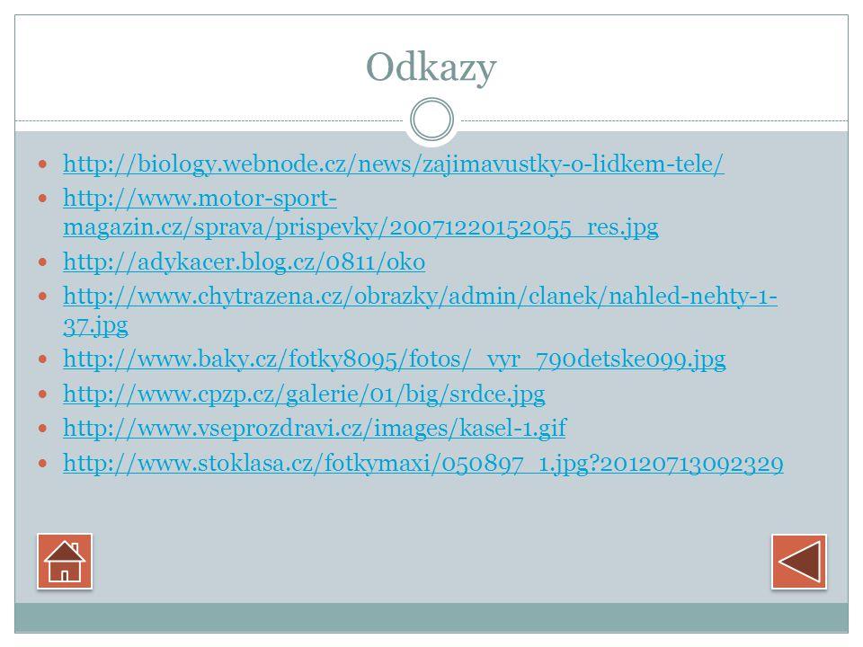 Odkazy http://biology.webnode.cz/news/zajimavustky-o-lidkem-tele/ http://www.motor-sport- magazin.cz/sprava/prispevky/20071220152055_res.jpg http://www.motor-sport- magazin.cz/sprava/prispevky/20071220152055_res.jpg http://adykacer.blog.cz/0811/oko http://www.chytrazena.cz/obrazky/admin/clanek/nahled-nehty-1- 37.jpg http://www.chytrazena.cz/obrazky/admin/clanek/nahled-nehty-1- 37.jpg http://www.baky.cz/fotky8095/fotos/_vyr_790detske099.jpg http://www.cpzp.cz/galerie/01/big/srdce.jpg http://www.vseprozdravi.cz/images/kasel-1.gif http://www.stoklasa.cz/fotkymaxi/050897_1.jpg 20120713092329