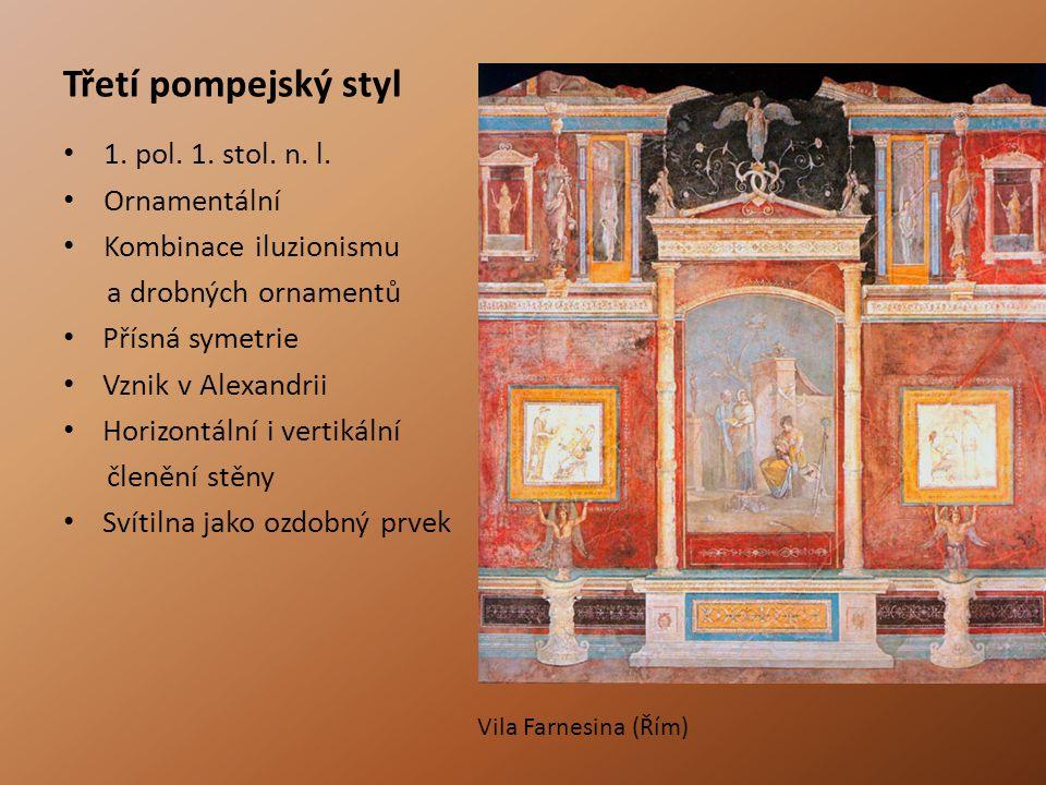 Třetí pompejský styl 1.pol. 1. stol. n. l.